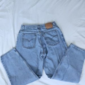 Vintage Levi's 550 High Waist Light Wash Jeans